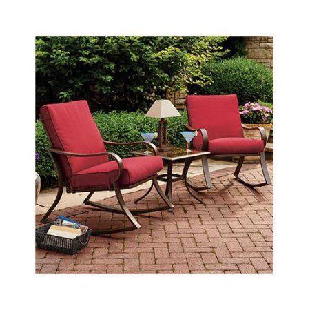 Courtyard Creations Rus0097 Bantry Bay Seating Set Steel Frames 3 Pc Walmart Com Gray Patio Furniture Patio Furniture Conversation Sets Buy Patio Furniture