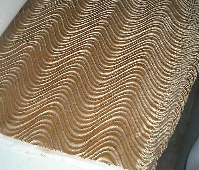 Harvest Gold Wavy Velvet Upholstery Fabric 1 Yard R554 | eBay
