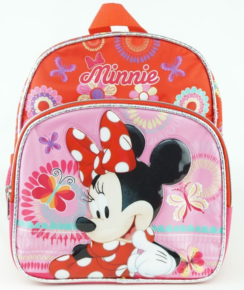 d0a03c5c7fc Disney Minnie Mouse Mini Backpack Red Toddler Girl Children Butterfly  Flowers  Disney  Backpack