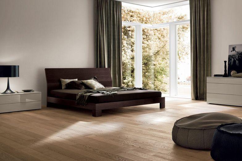 Reti Da Letto Alzabili : Basic letto in legno laccato opaco o rovere moro letto