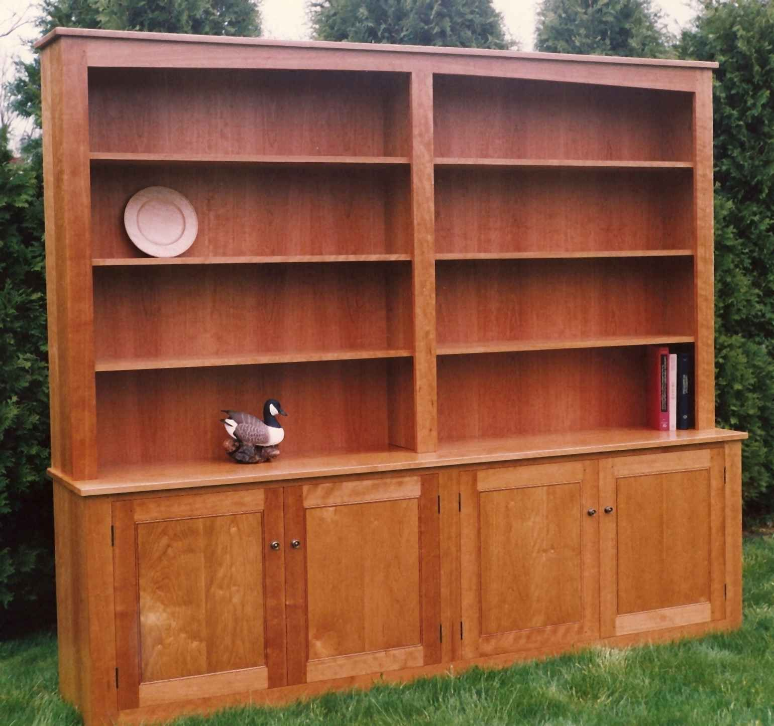 bookcase cherry wood with info doors solid vanegroo ikea
