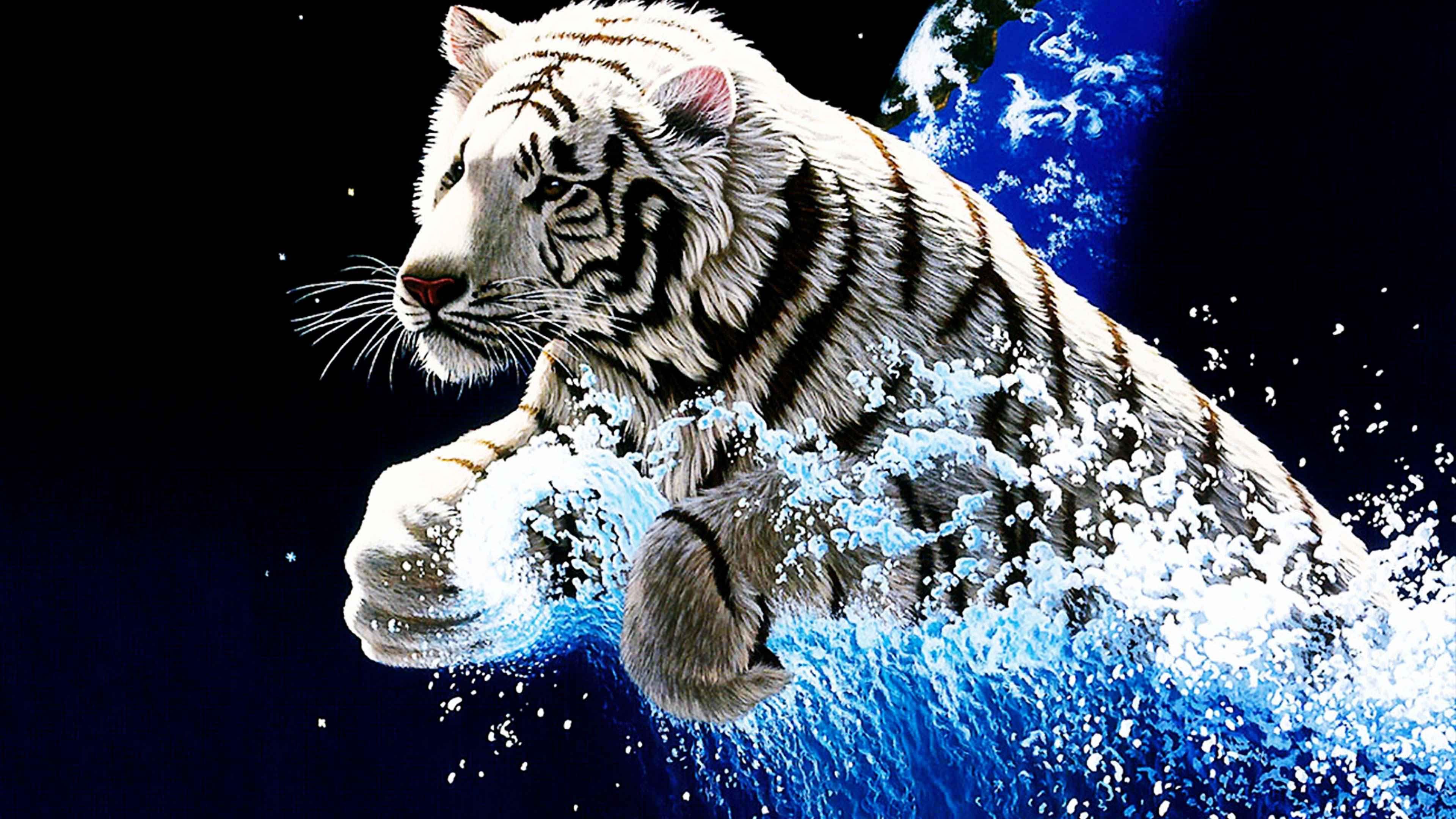 Full Hd Android Tiger Wallpaper
