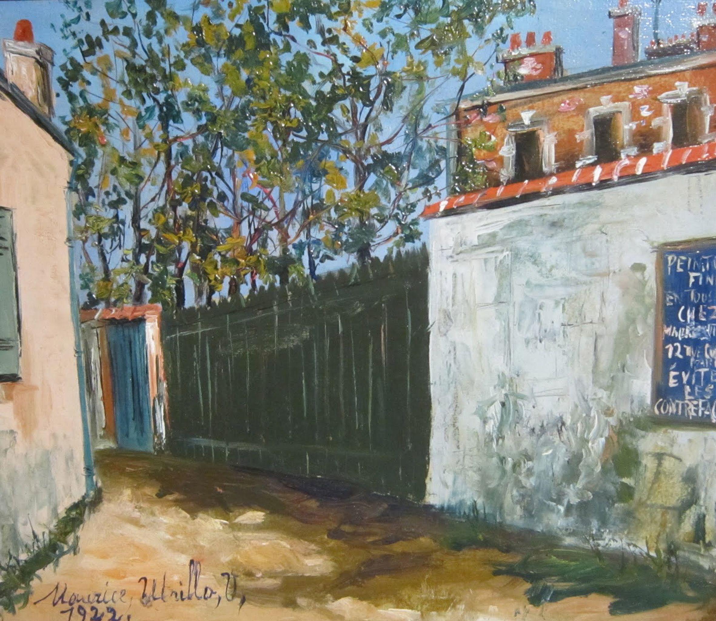 Rue Cortot à Montmartre, 1922  par  Maurice Utrillo  (1883-1955)