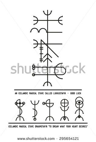 The Icelandic Magical Stave Lukkustafir Symbol Of Luck Alchemy