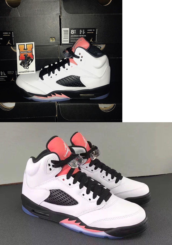 da0aca5bb1a5 ... Boys Shoes 57929 Nike Air Jordan Retro 5 V Sunblush Gs 440892-115  Salmon Tongue