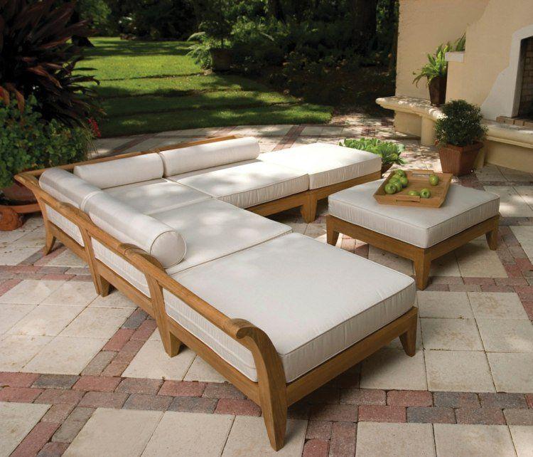 Salon de jardin en teck- tout type de meubles en 20+ photos
