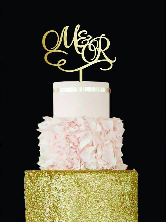 Initials Cake Topper Wedding Cake Topper Letter M cake topper R