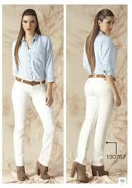 De Blanco Look Camisa Botas Resultado Imagen Para Pantalon Mujer gfvgdnX