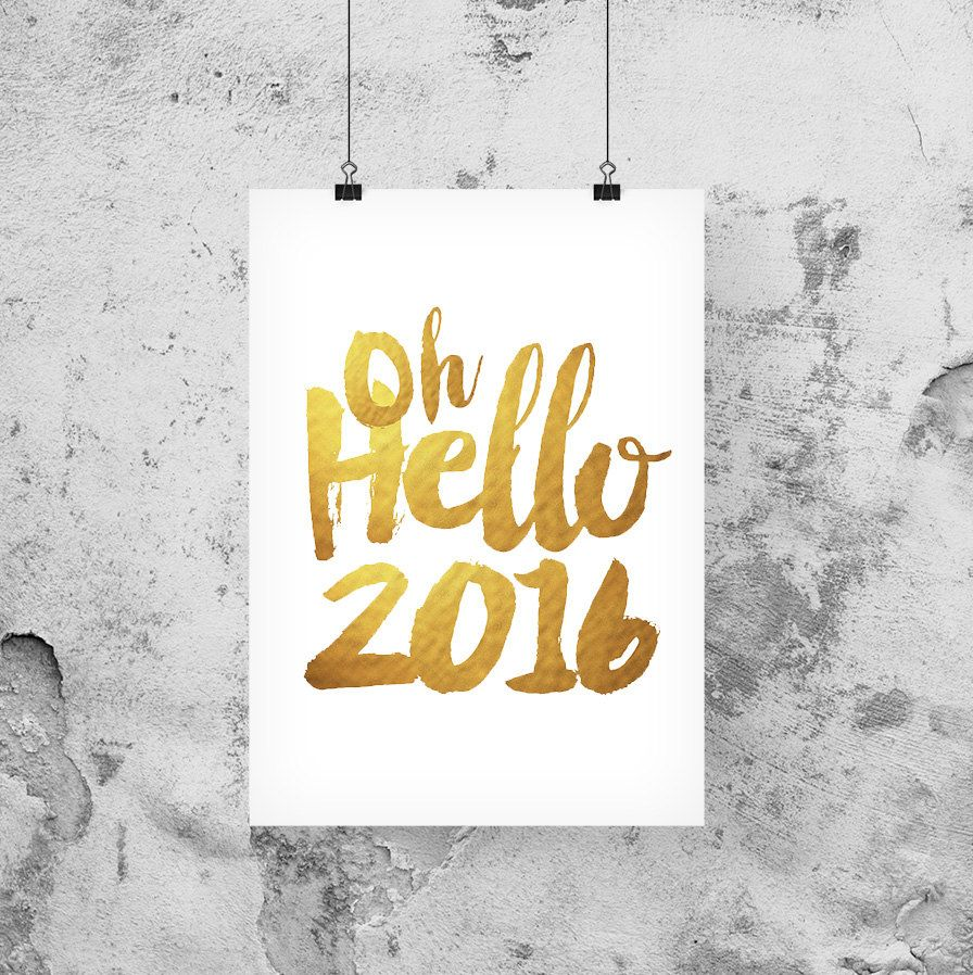 Happy New Year 2017, Oh Hello 2017, New Years Eve printables, New ...