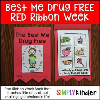 Red Ribbon Week Book For Kindergarten First Grade And
