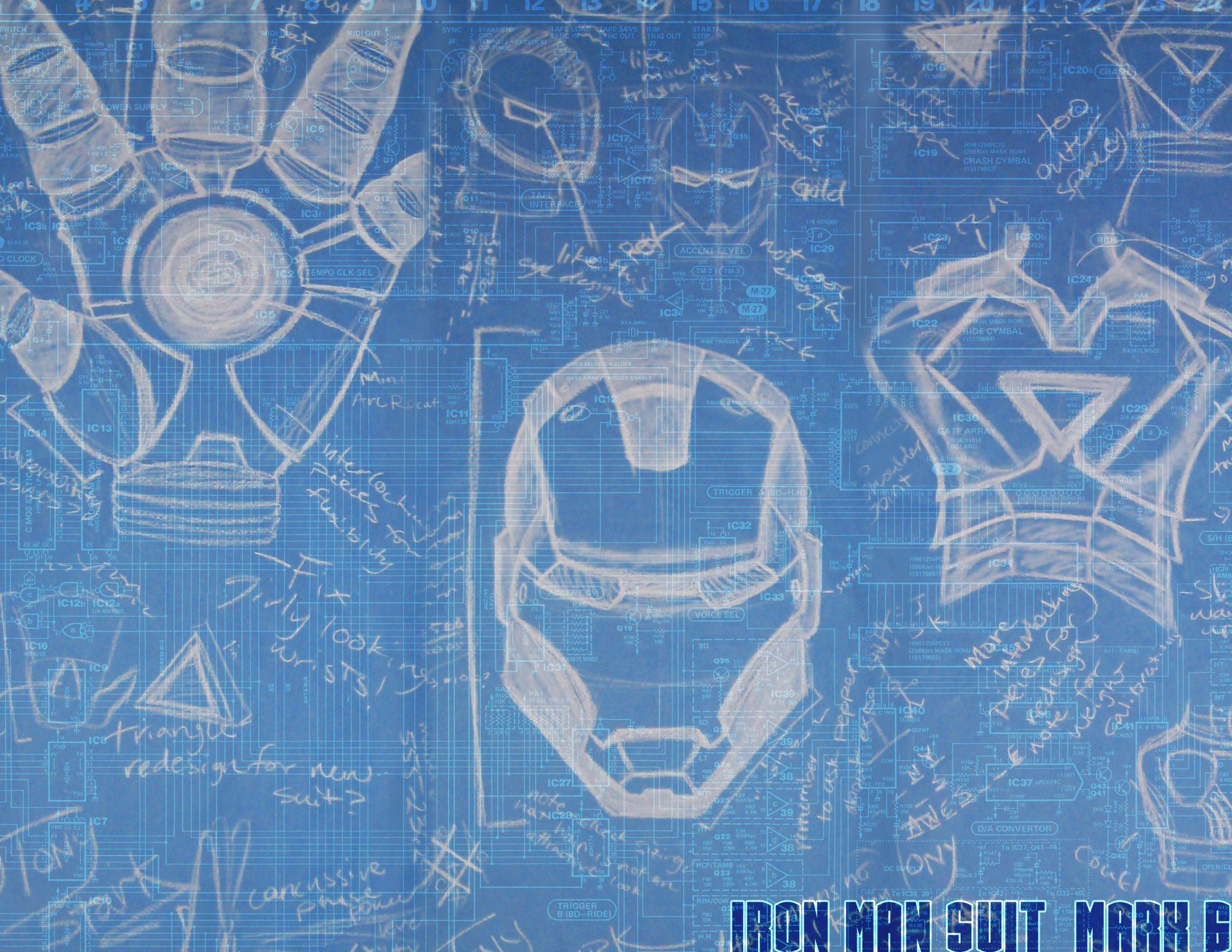 Iron Man Blueprint