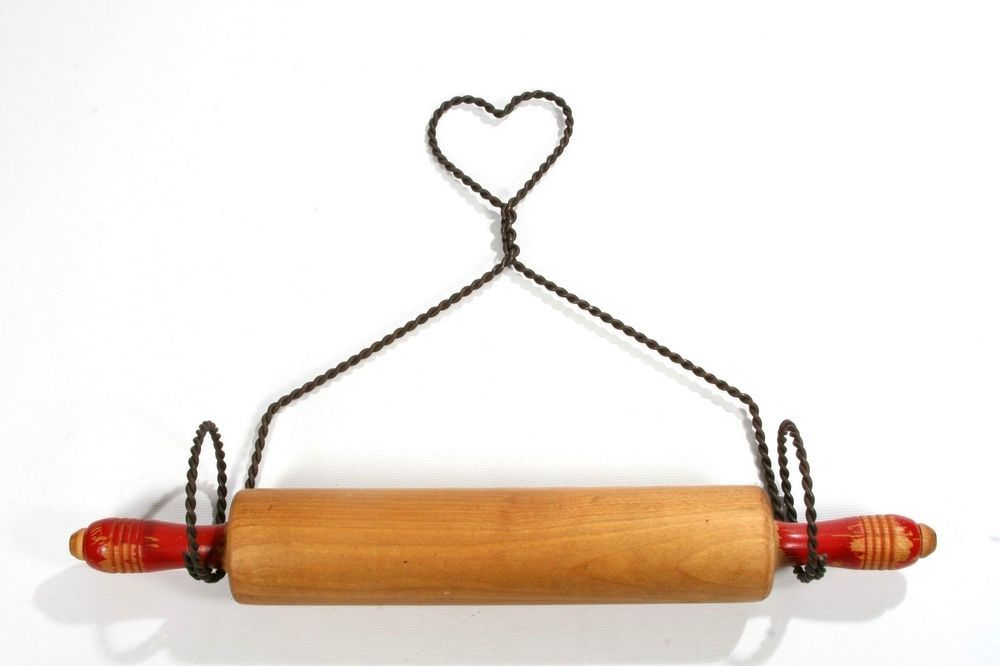 Rolling Pin Hangers Made From Forks And Spoons Fork And Spoon Wall Hanger Upcycled Kitchen Hooks Vintage Co Rolling Pin Display Rolling Pin Kitchen Utensils