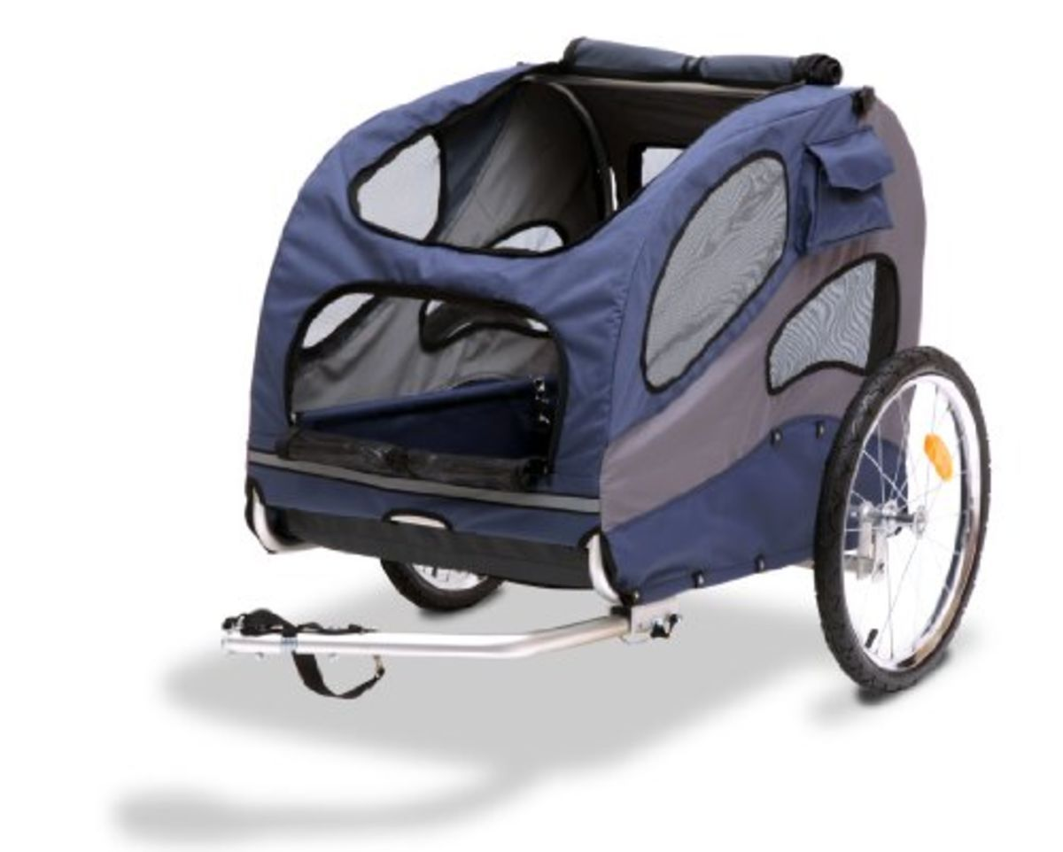 Pull behind dog carrier for bikes