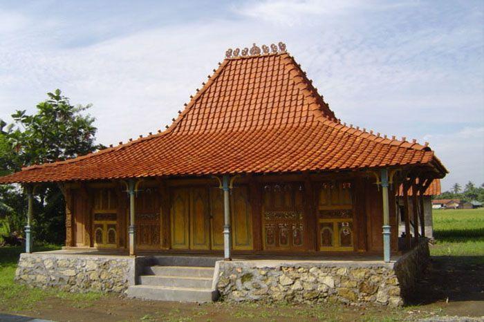 Rumah Adat Tradisional Dengan Gambar Arsitektur Rumah Kayu