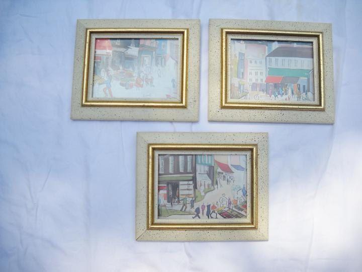 Set of Three Framed Mid-Century Prints by Fayetta by notjustknots on ...