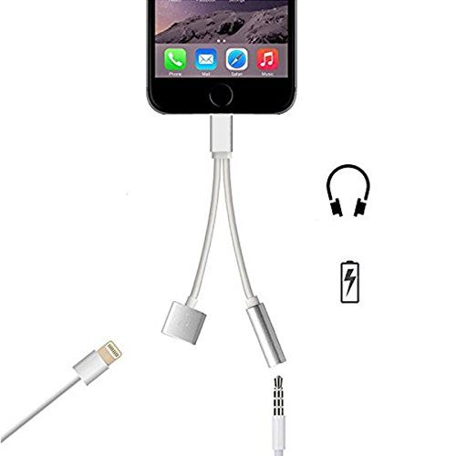 Cool 2 In 1 Lightning Adapter For Iphone 7 Selectwiser Charger And 3 5mm Earphone Jack Cable Adapter No Music Control For The Iphone 7 Iphone 7 Ipod Iphone
