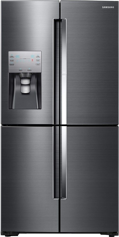 Samsung   ShowCase 22.04 Cu. Ft. 4 Door Flex French Door Counter Depth  Refrigerator   Black Stainless Steel   Front_Zoom