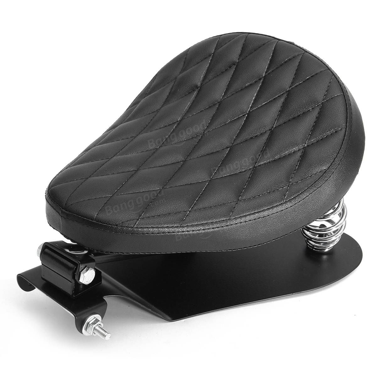 Only Us 98 99 Buy Best Motorcycle Solo Seat Cushion With Brackets Black Diamond For Harley Bobber Chopper Sale Online Stor Harley Bobber Bobber Bobber Chopper