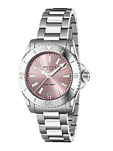Gucci - Dive Stainless Steel Bracelet Watch Pink  a80034fe5e