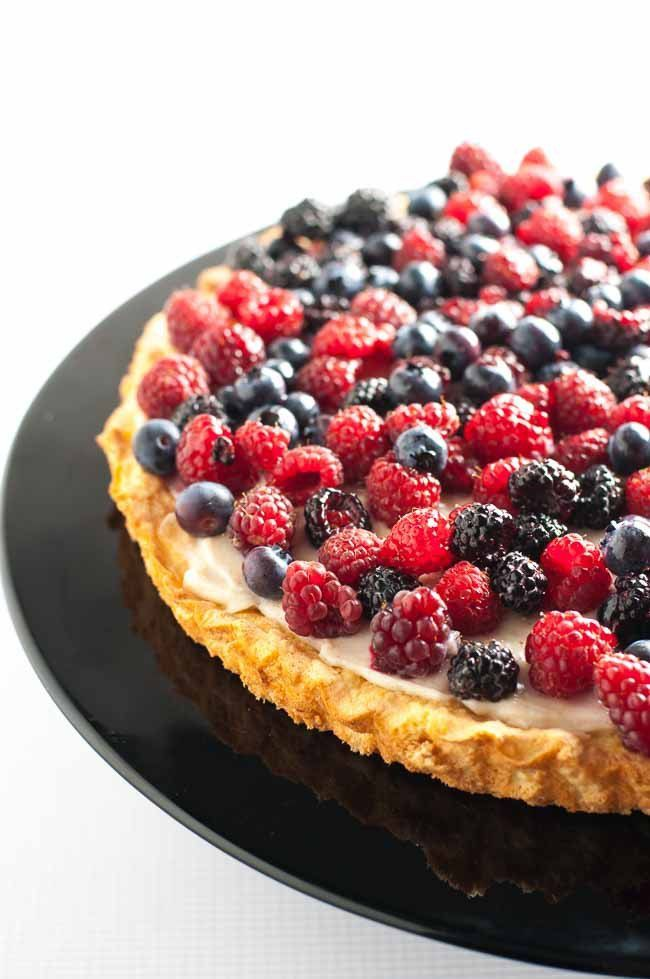 For A Berry Special Occasion Recipe Fruit Flan Almond Cakes Flan
