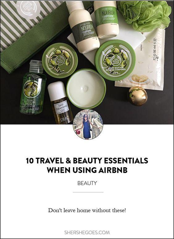10 Beauty Essentials for the Airbnb Traveler #beautyessentials