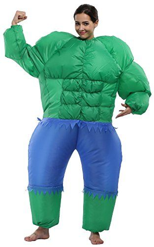 Inflatable Super Hero Fancy Dress Party Costume,