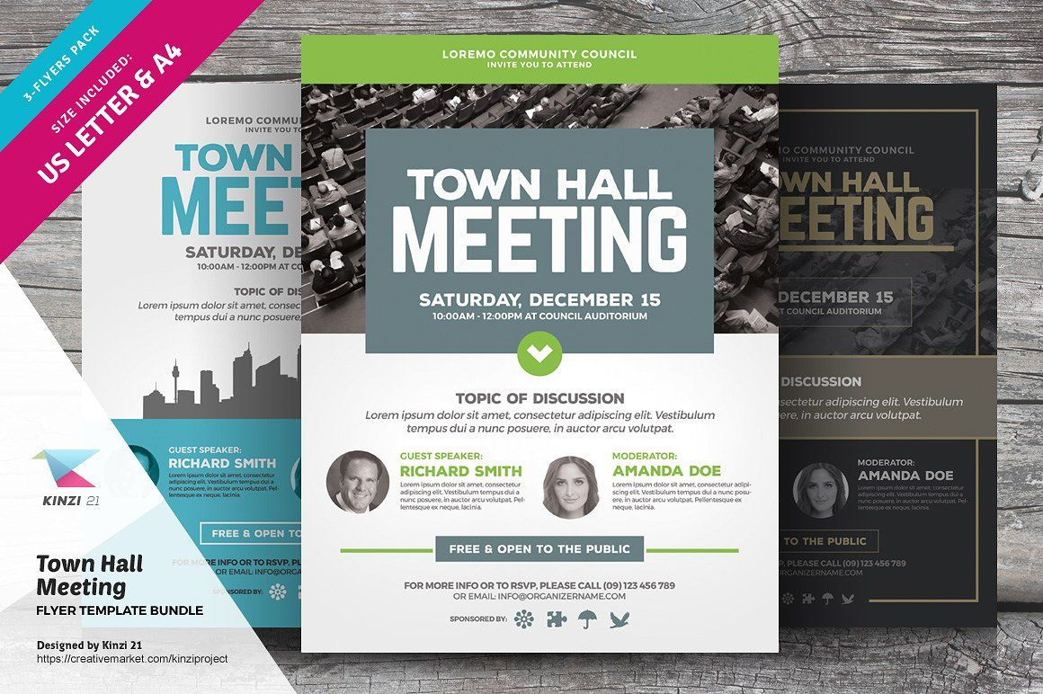 Town Hall Meeting Flyer Bundle Flyer Template Town Hall Meeting Flyer Town hall meeting flyer template