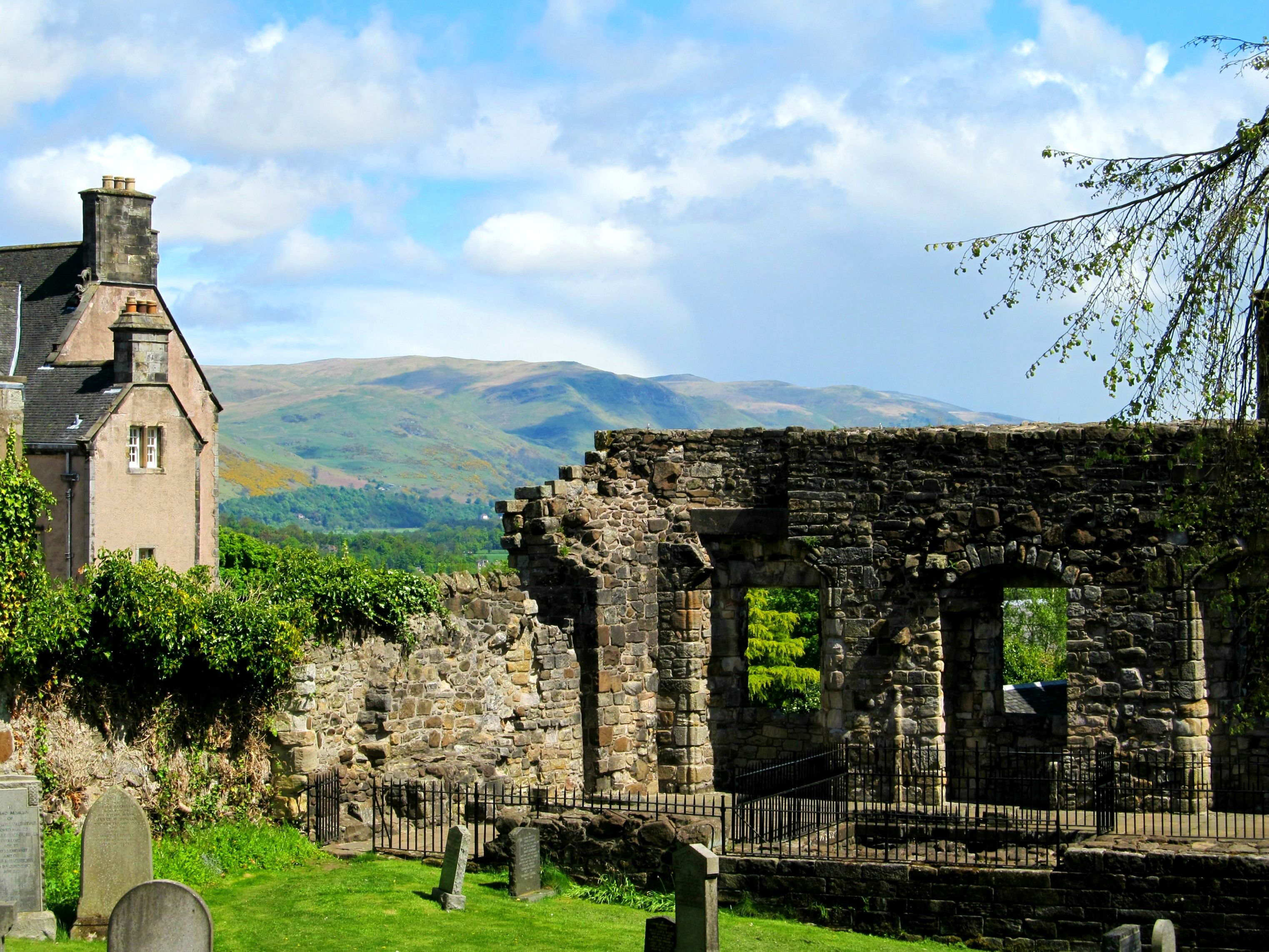 The graveyard in Old Town Stirling overlooking the ...