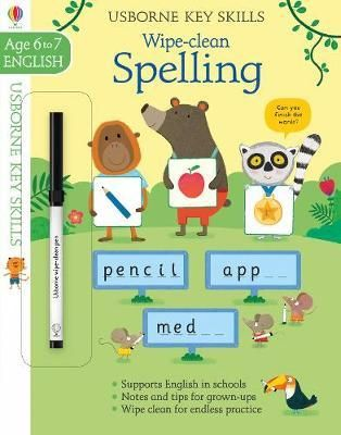 Join a group of jungle animals as they practise theirspelling. With the help of this book, children will learn the rules for addingsuffixes to root words. They will practise forming contractions andpossessives, and find out how to use silent letters. Wipe-clean pages allowthem to fill in the spaces and try out their spellings again and again.Illustrations: Full colourthroughoutWARNING! Not suitable for children under 36 months because ofsmall parts. Choking hazard. Ink from pen may not be washab