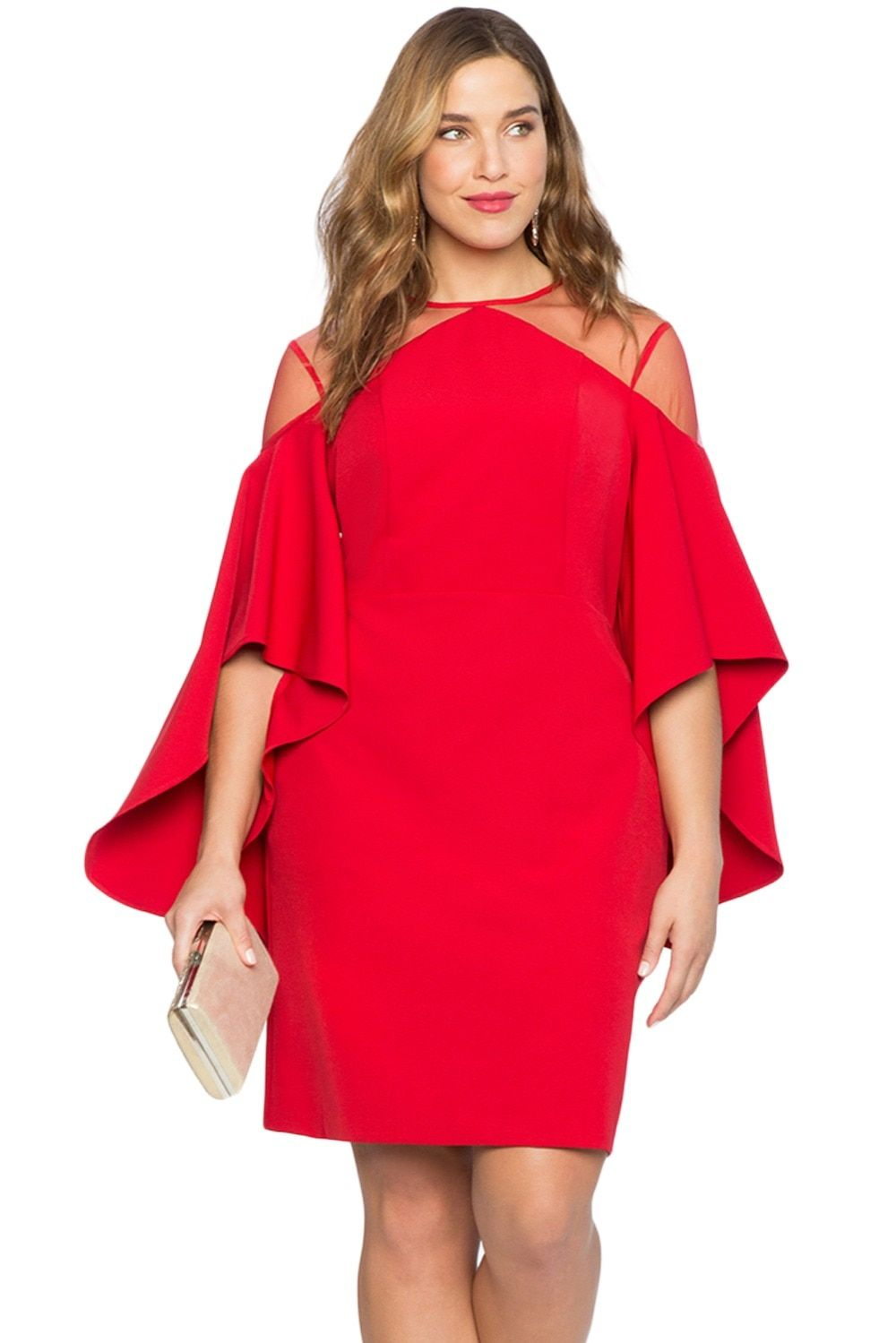 a416f3ee9be76 Gosopin Cold Shoulder Plus Size Dress Party Women Autumn Elegant ...
