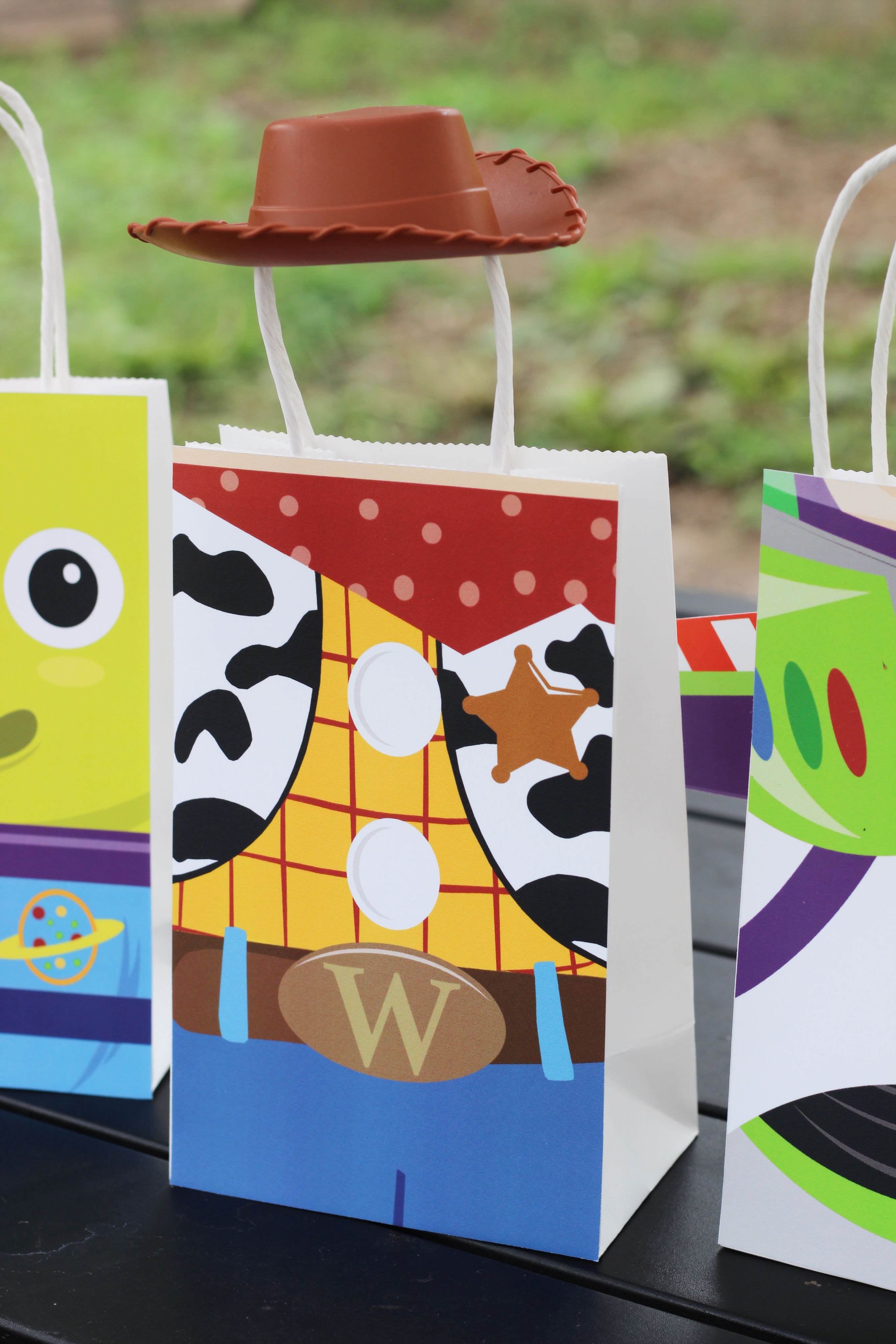 DIY Toy Story Favor Bags Simply Download Print Cut And Paste