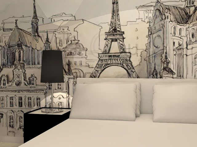 Wallpaper paris rdeco homes pinterest wallpaper for Paris wallpaper for bedroom