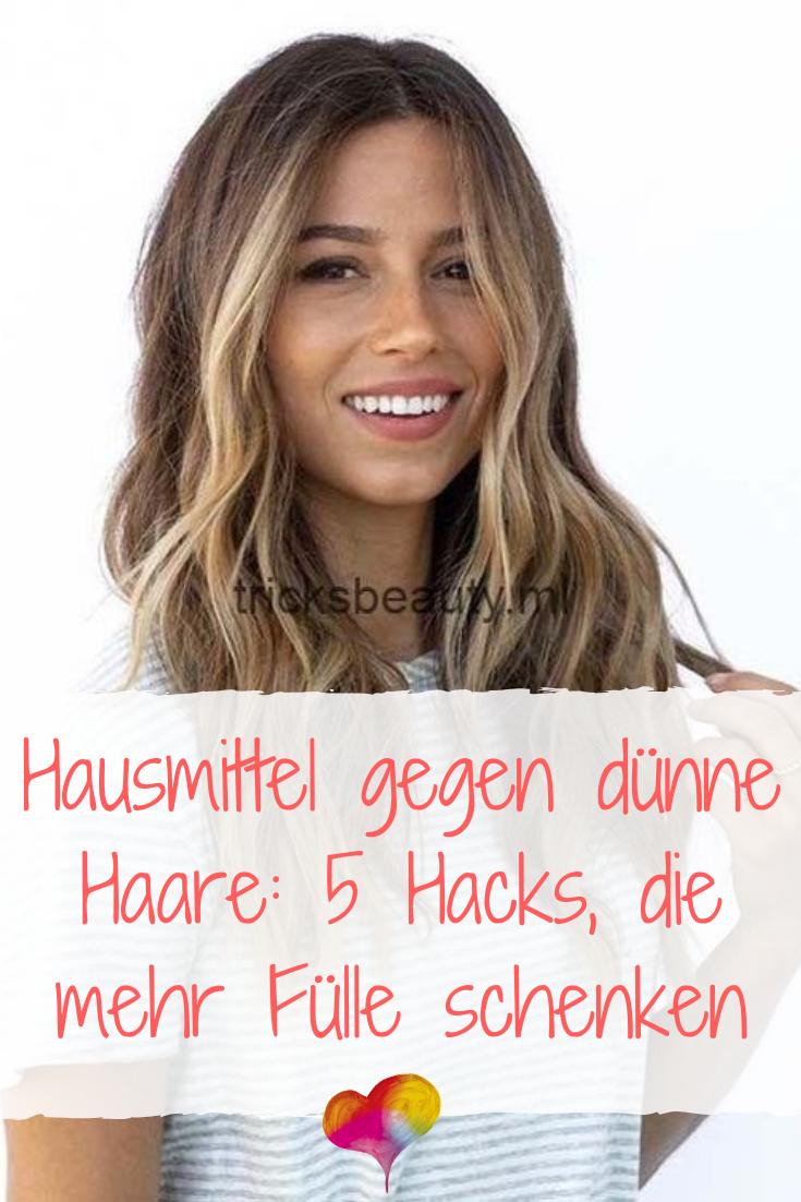 Hausmittel gegen dünne Haare: 11 Hacks, die mehr Fülle schenken