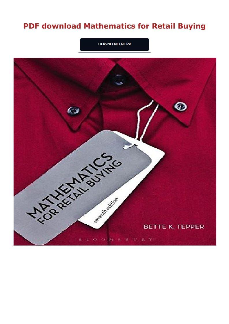 Download Pdf Mathematics For Retail Buying Ebook Pdf Download