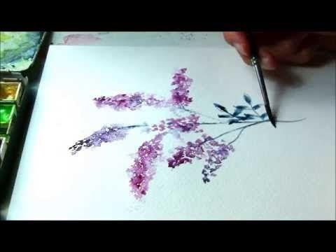 Aquarell Tutorial Sommerflieder Youtube Aquarell