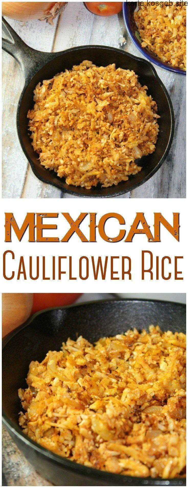 You can make this Mexican Cauliflower Rice in less than 15 minutes with simple i... - -  Mit einfachen Zutaten können Sie diesen mexikanischen Blumenkohlreis in weniger als 15 Minuten zubereiten! Es ist eine großartige kohlenhydratarme Alternative zu traditionellem mexikanischen Reis.
