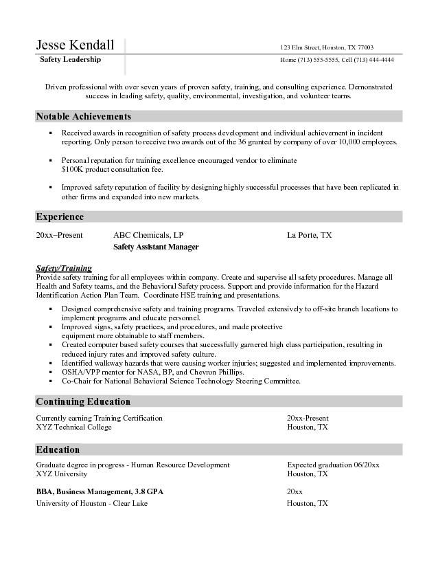 Free Assistant Manager Resume Template -    wwwresumecareer - manager resume samples