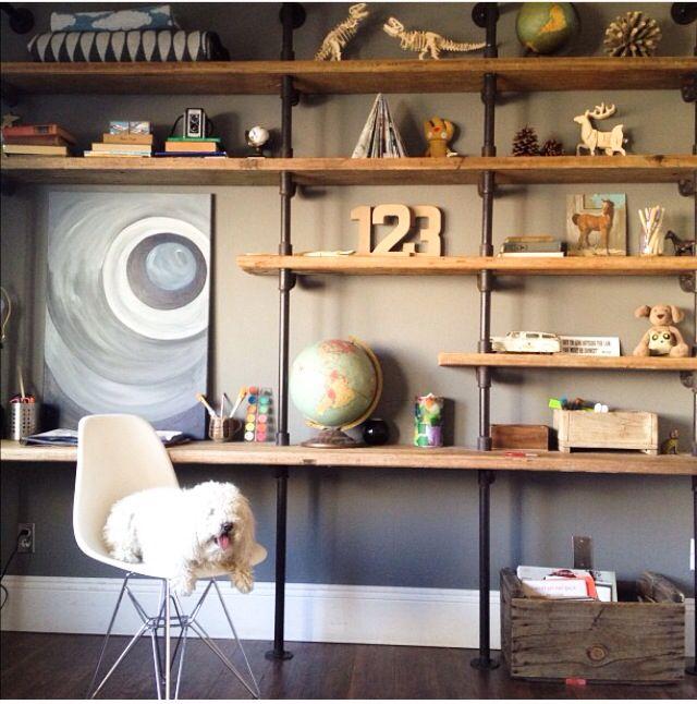 die besten 25 r hrenregale ideen auf pinterest diy rohrregale industrierohr regale und. Black Bedroom Furniture Sets. Home Design Ideas