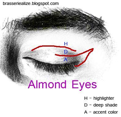 Eye Makeup: Basic makeup for almond eyes | Makeup | Pinterest ...