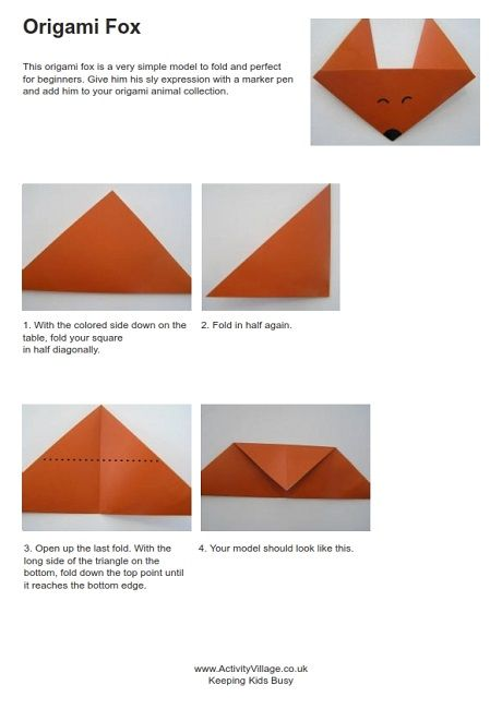 Origami Fox Instructions