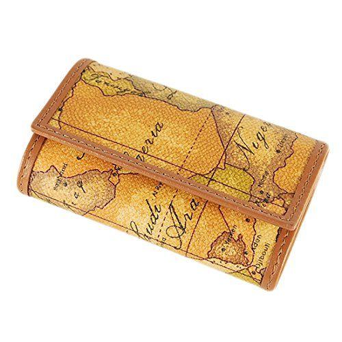 Amazon.co.jp: プリマクラッセ キーケース 世界地図柄 keys holder 6連キーホルダー ナチュラル W250 6000: シューズ&バッグ