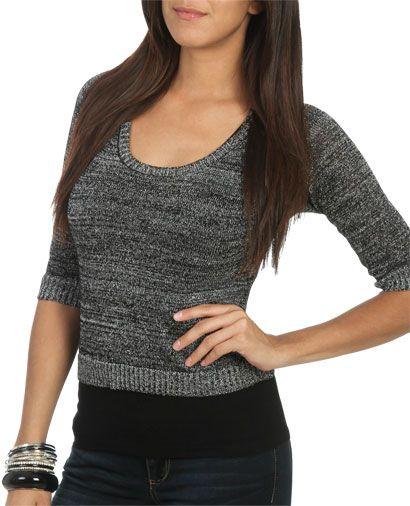 Lurex Chiffon Back Sweater from WetSeal.com$26.50