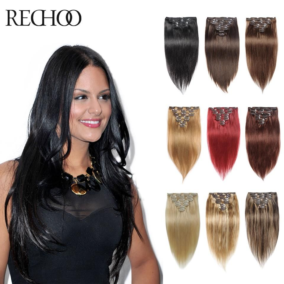 Clip In Hair Extensions Human Hair 7 Pieces Remy 7a Clip In