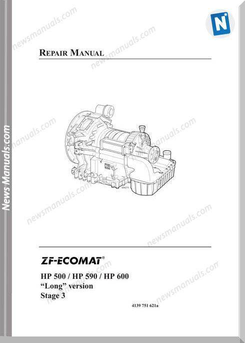 Zf 5Hp 6Hp Ecomat 500 590 600 Long Vers Repair Manual