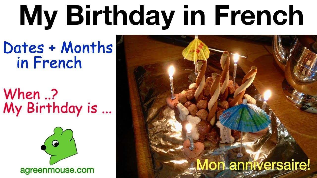 Dates, Months and Birthdays in French in 2020 (With images