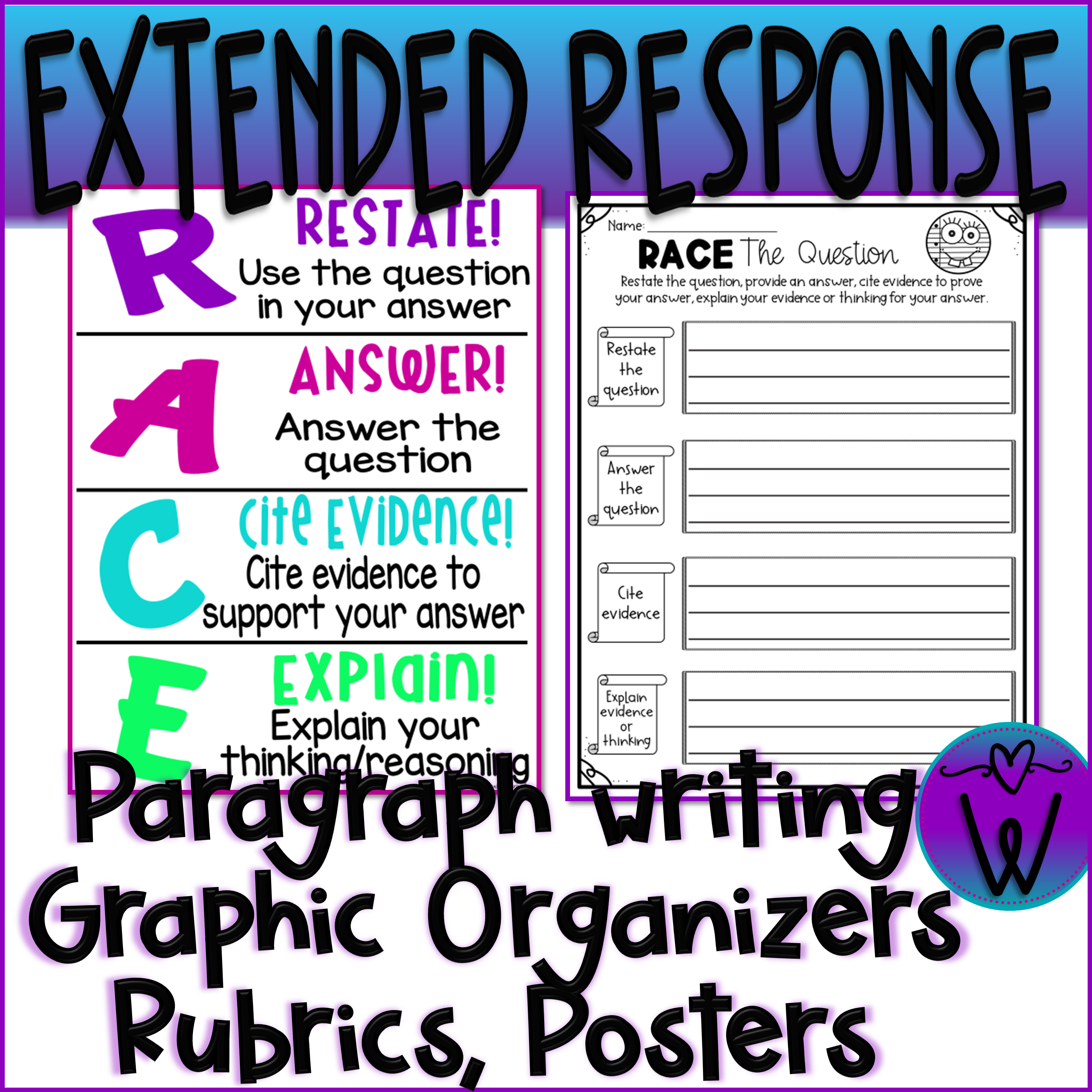 Differentiated Extended Response Writing Rubrics With Race