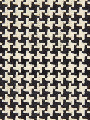 Black Houndstooth Fabric Woven Heavyweight By Popdecorfabrics