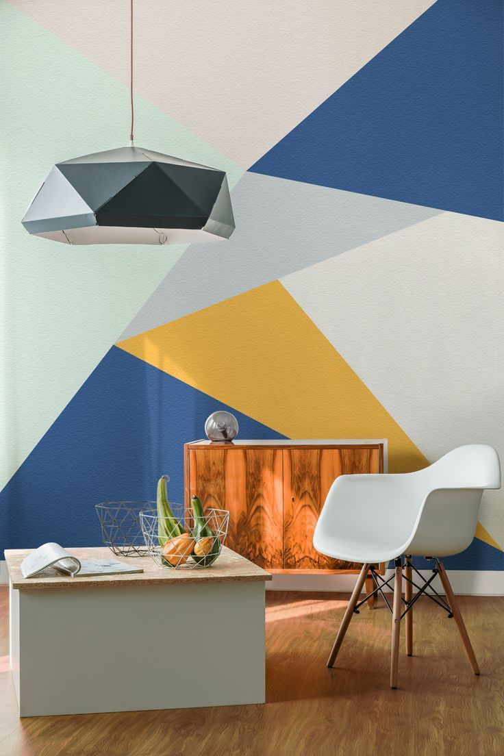 Tips For Painting Your Walls Top Style Decor Accent Walls In Living Room Geometric Living Room Feature Wall Wallpaper