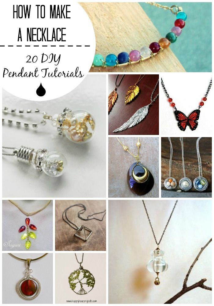 How to make a necklace 20 diy pendant tutorials you can do how to make a necklace 20 diy pendant tutorials you can do mozeypictures Choice Image
