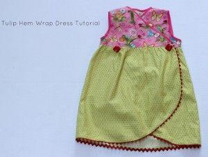 Free Sewing Pattern: Kimono Wrap Dress with Tulip Hem - I Sew Free